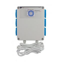Relais électrique-GSE- 6 x lampes 600 W + Timer intégré + Chauffage