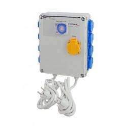 Relais électrique-GSE -8 x lampes 600 W + Timer intégré + Chauffage
