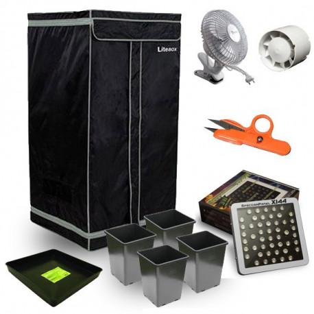 Kit box de culture mylarisé 60x60x120 LED-X144