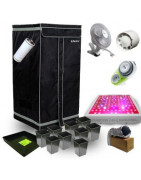 Kits Box de Culture complets - Pack Discount - Lumière - Ventilation - Dark Room